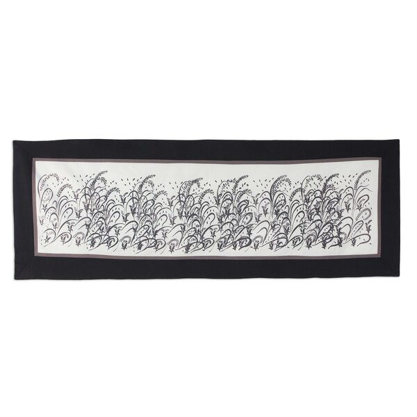 Floral Motif Artisan Crafted 100% Cotton Table Runner by Novica